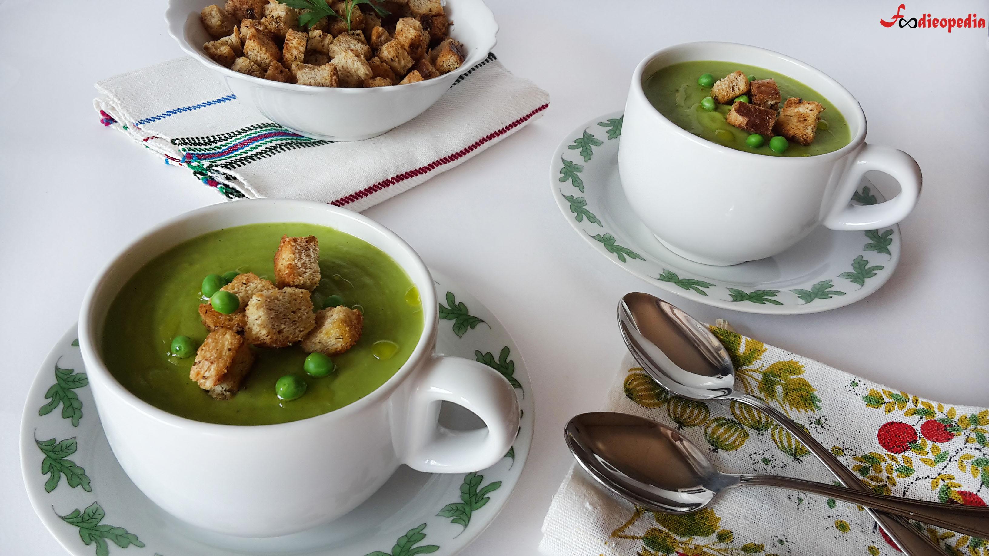 supă cremă de mazăre verde