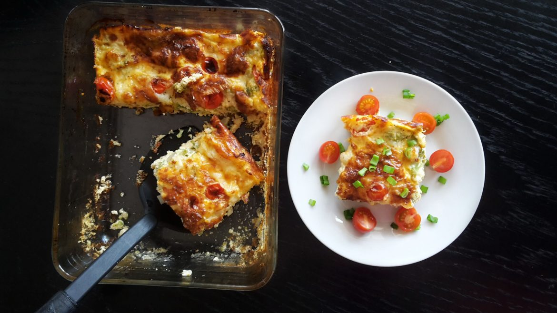 caserolă cu ouă și legume