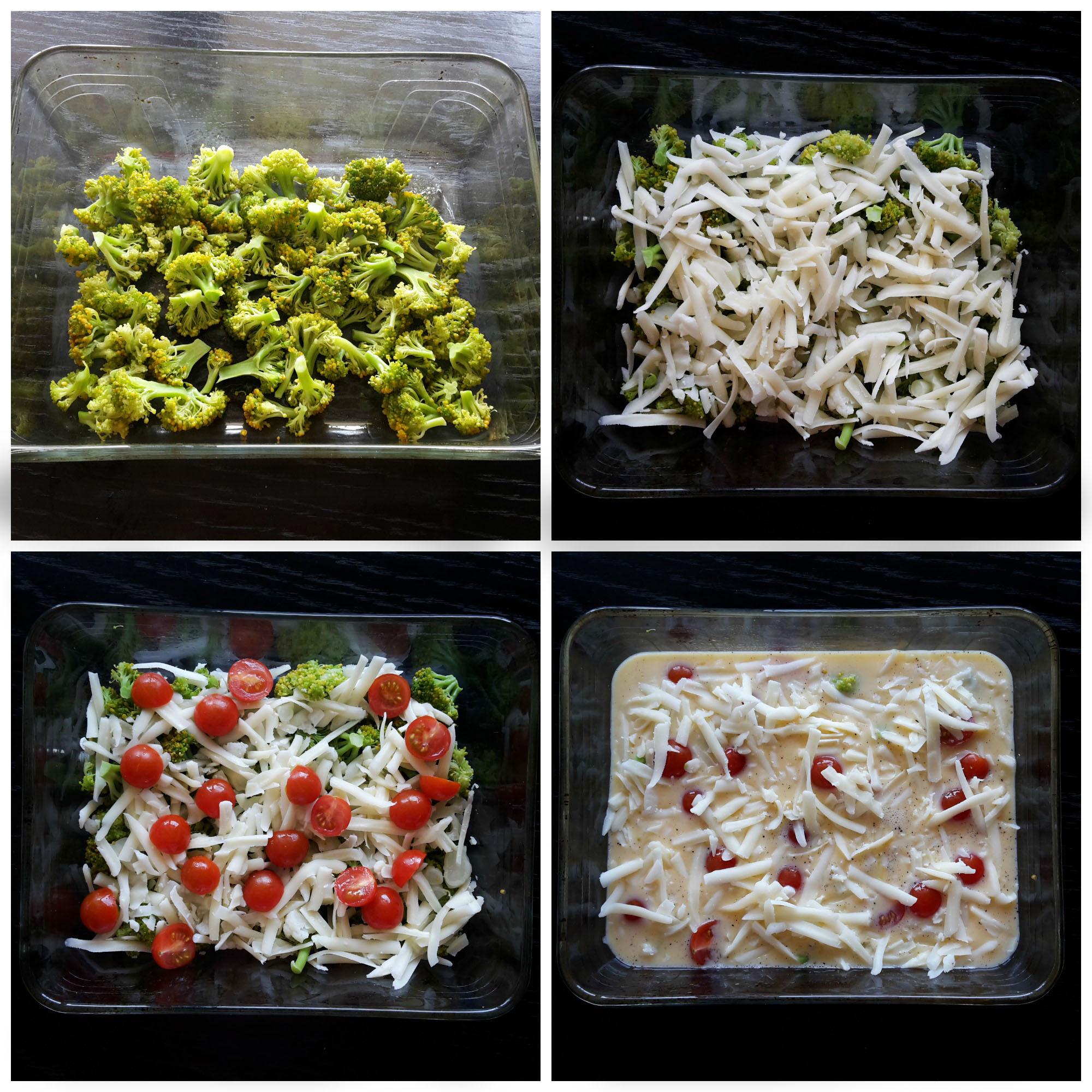caserolă rapidă cu ouă și legume