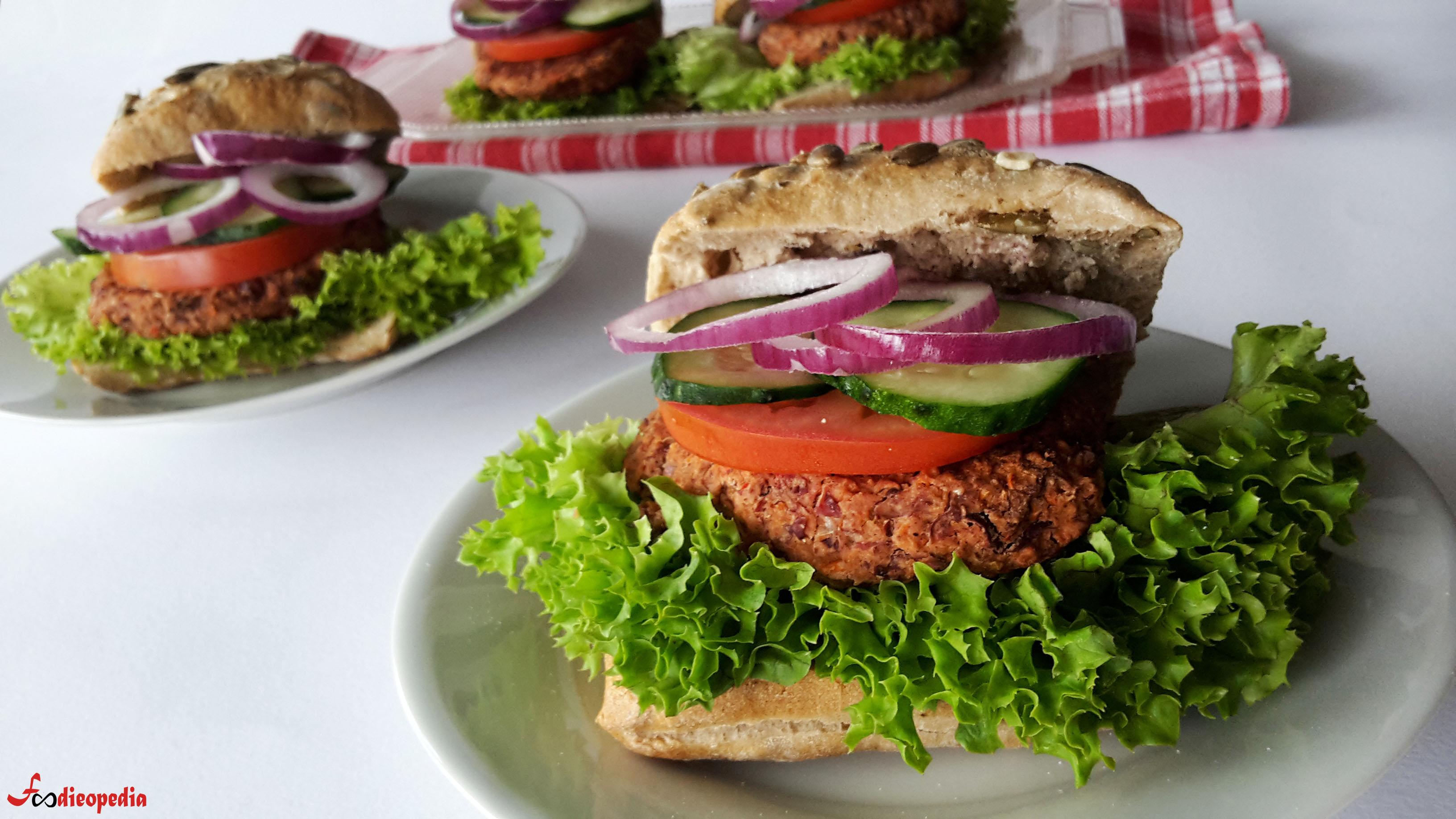 burgeri vegetali cu fasole roșie