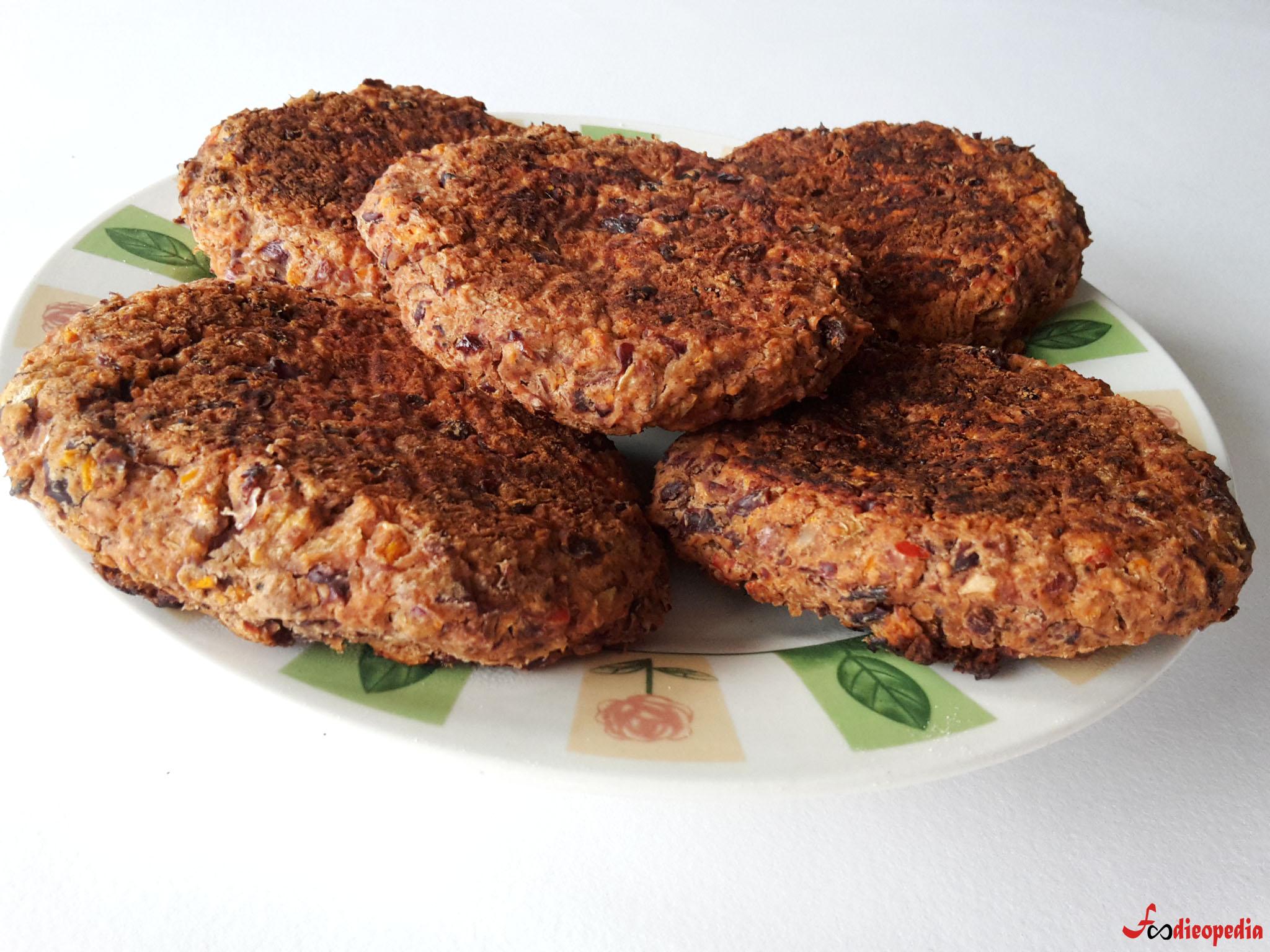 burgeri vegetali din fasole roșie