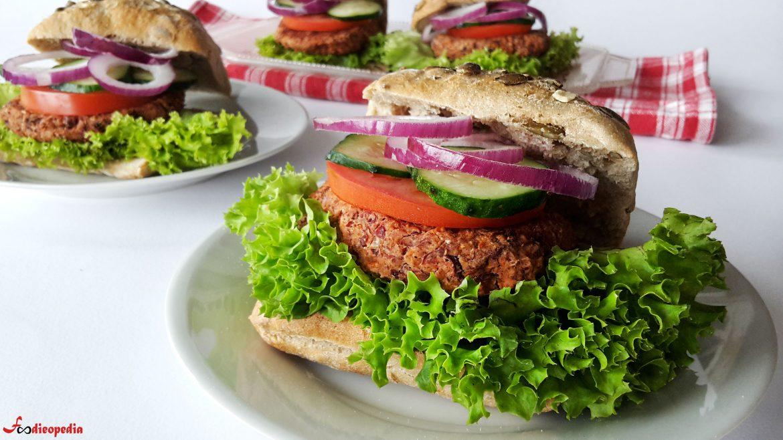 burgeri vegetarieni din fasole rosie