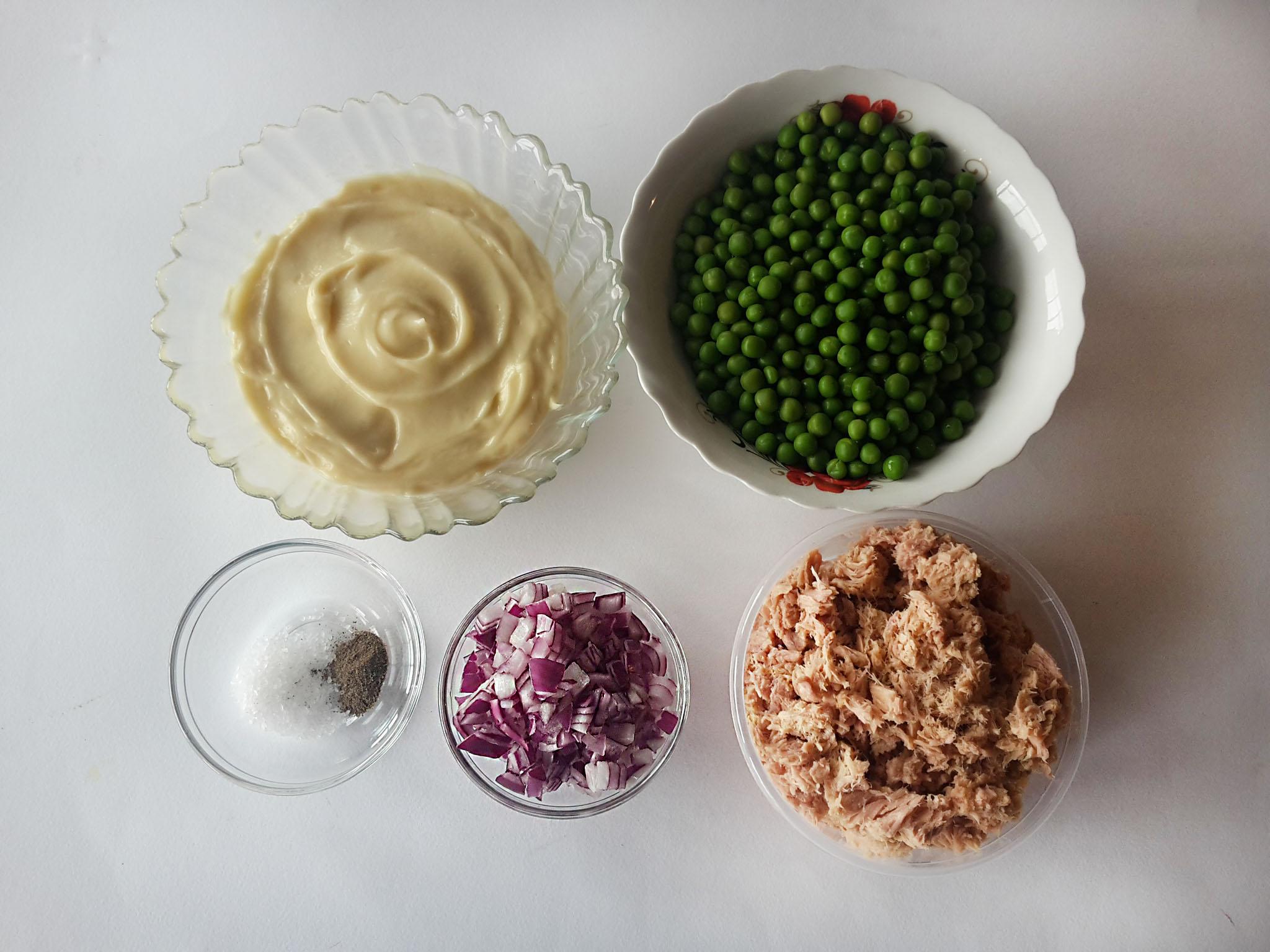 salata cu ton si mazare verde