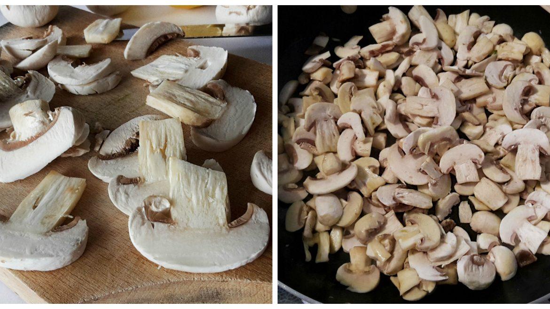 Ciuperci cu usturoi și pătrunjel