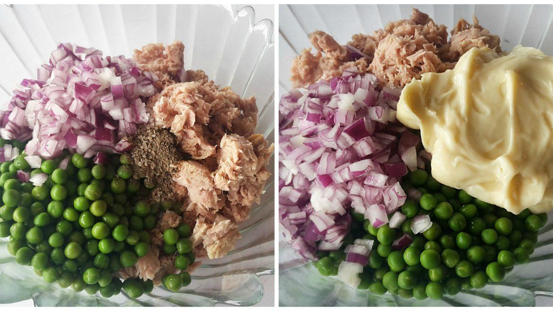 Salata cu ton și mazăre verde