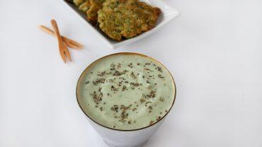Creamy avocado-yogurt sauce