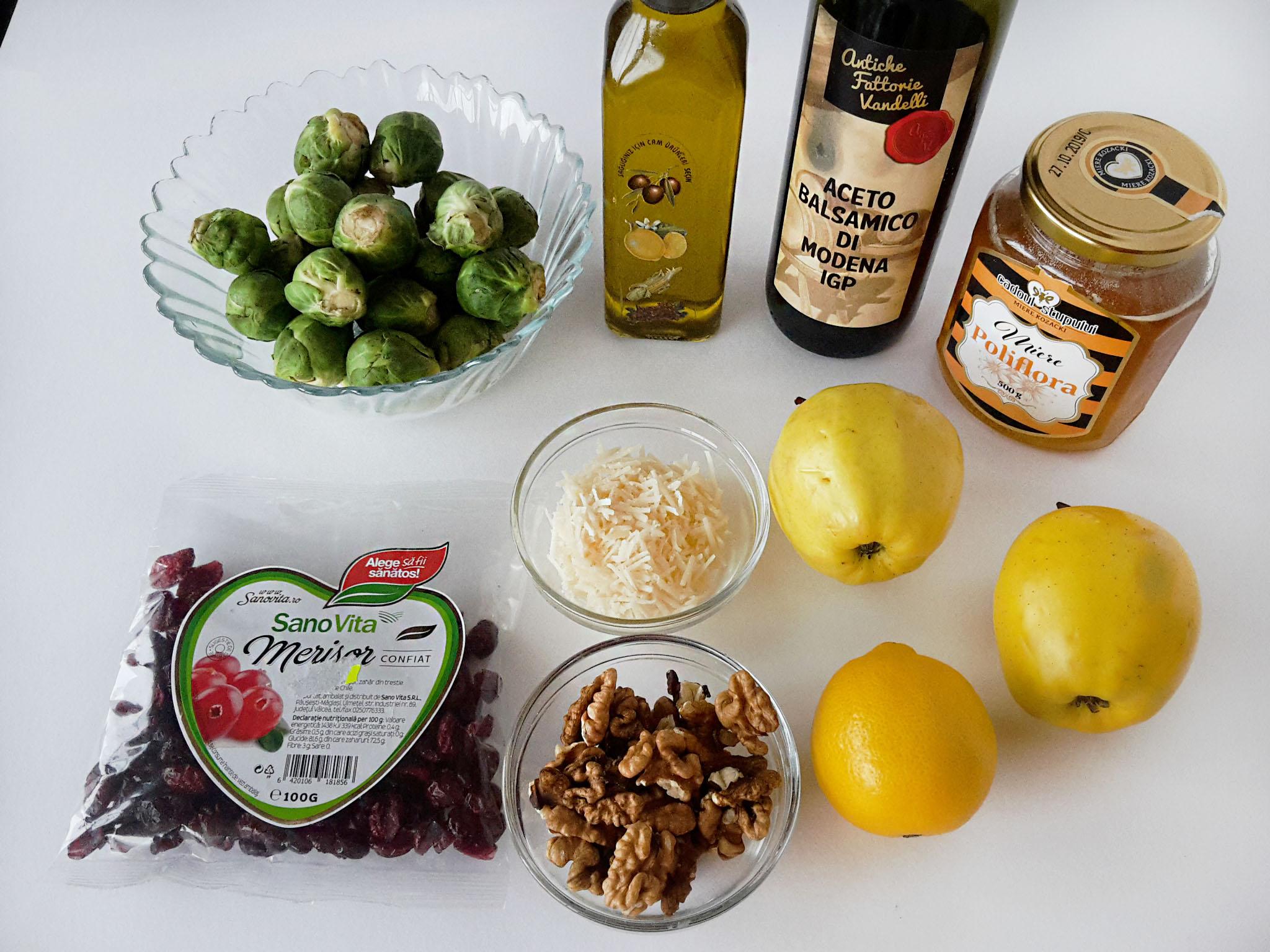 salata cu varza de bruxelles mere si nuci