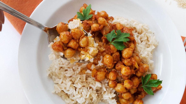 orez basmati cu naut curry
