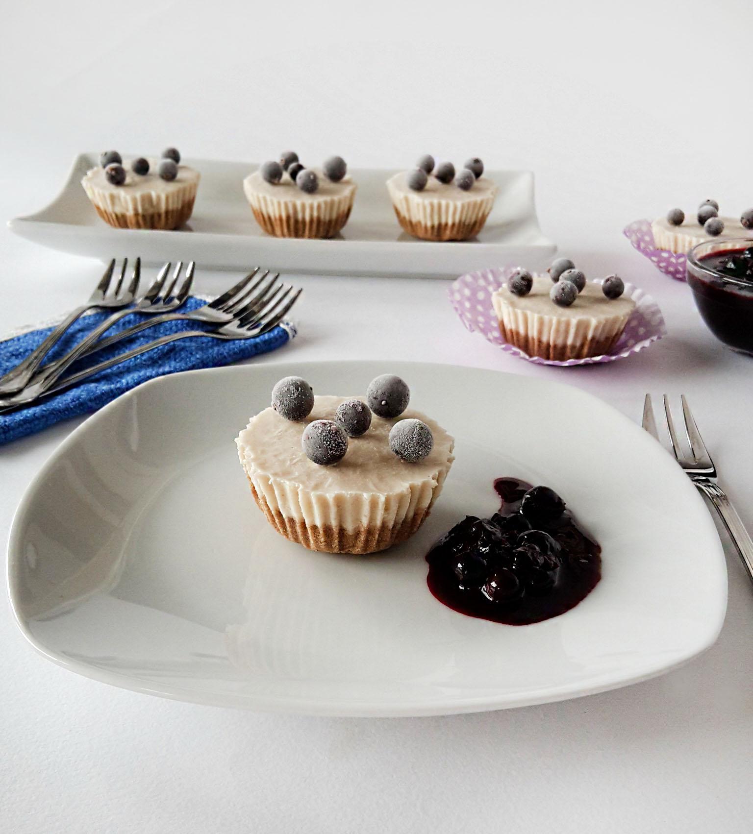Cheesecake in formă de briose. Dietetic, fara zahar