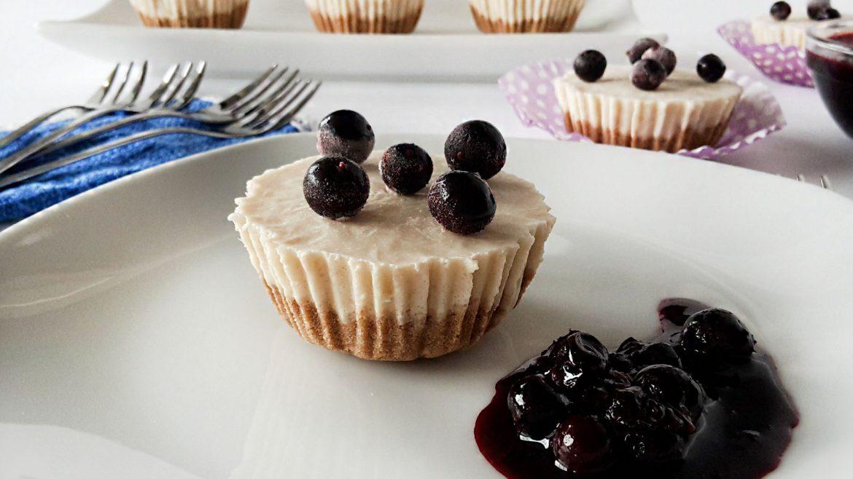 Cheesecake in forma de briose. Dietetic, fara zahar