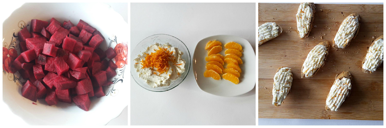 crostini cu sfecla rosie, branza de vaci si portocale 05
