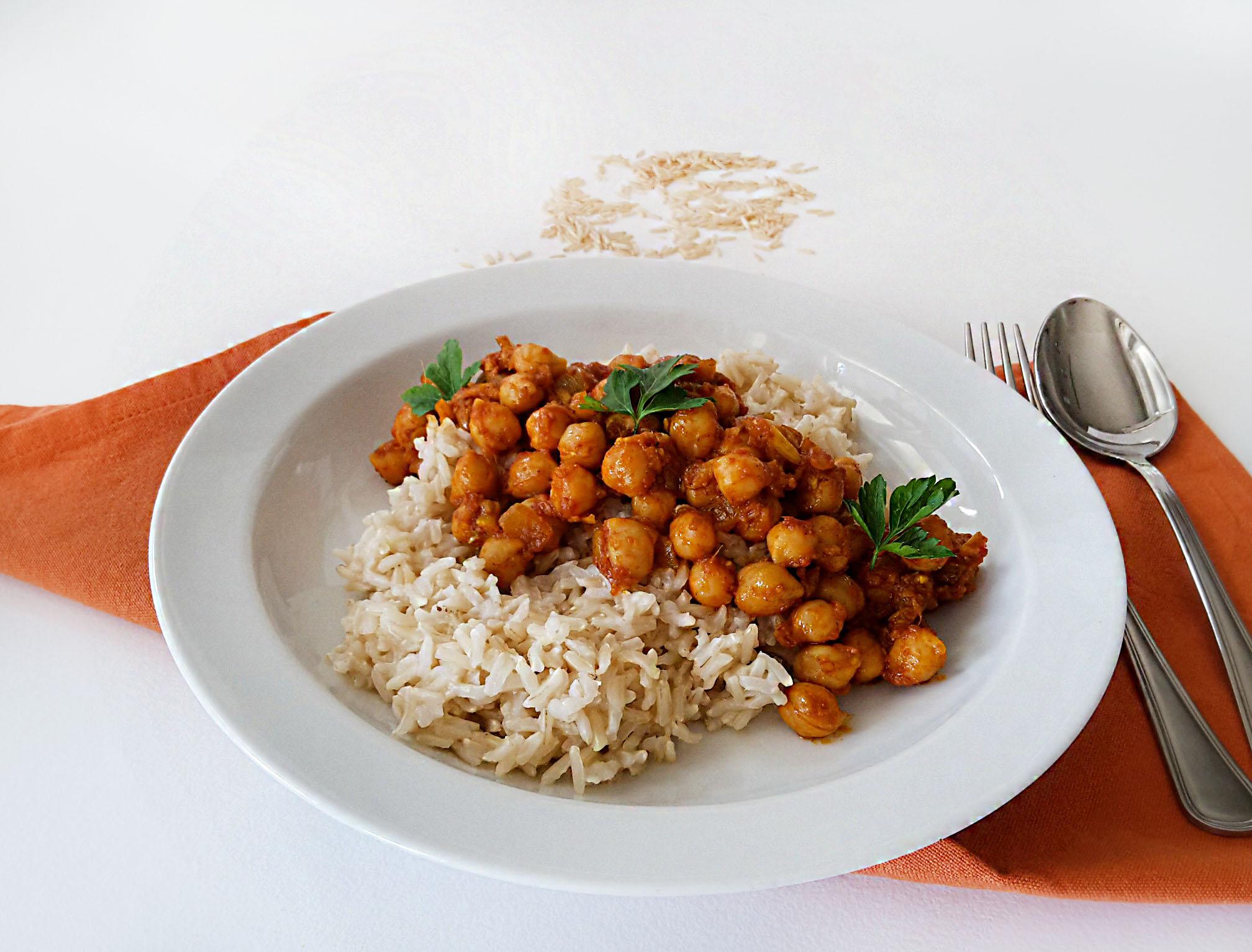 orez basmati cu naut curry 2