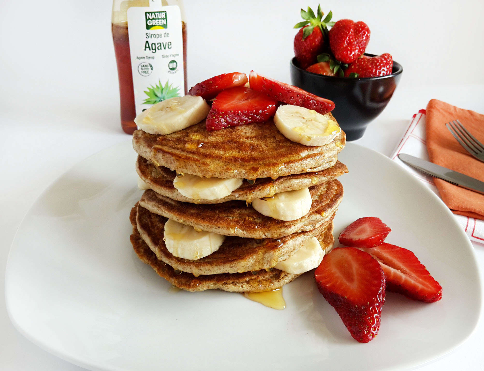 pancakes cu capsuni si banane 03