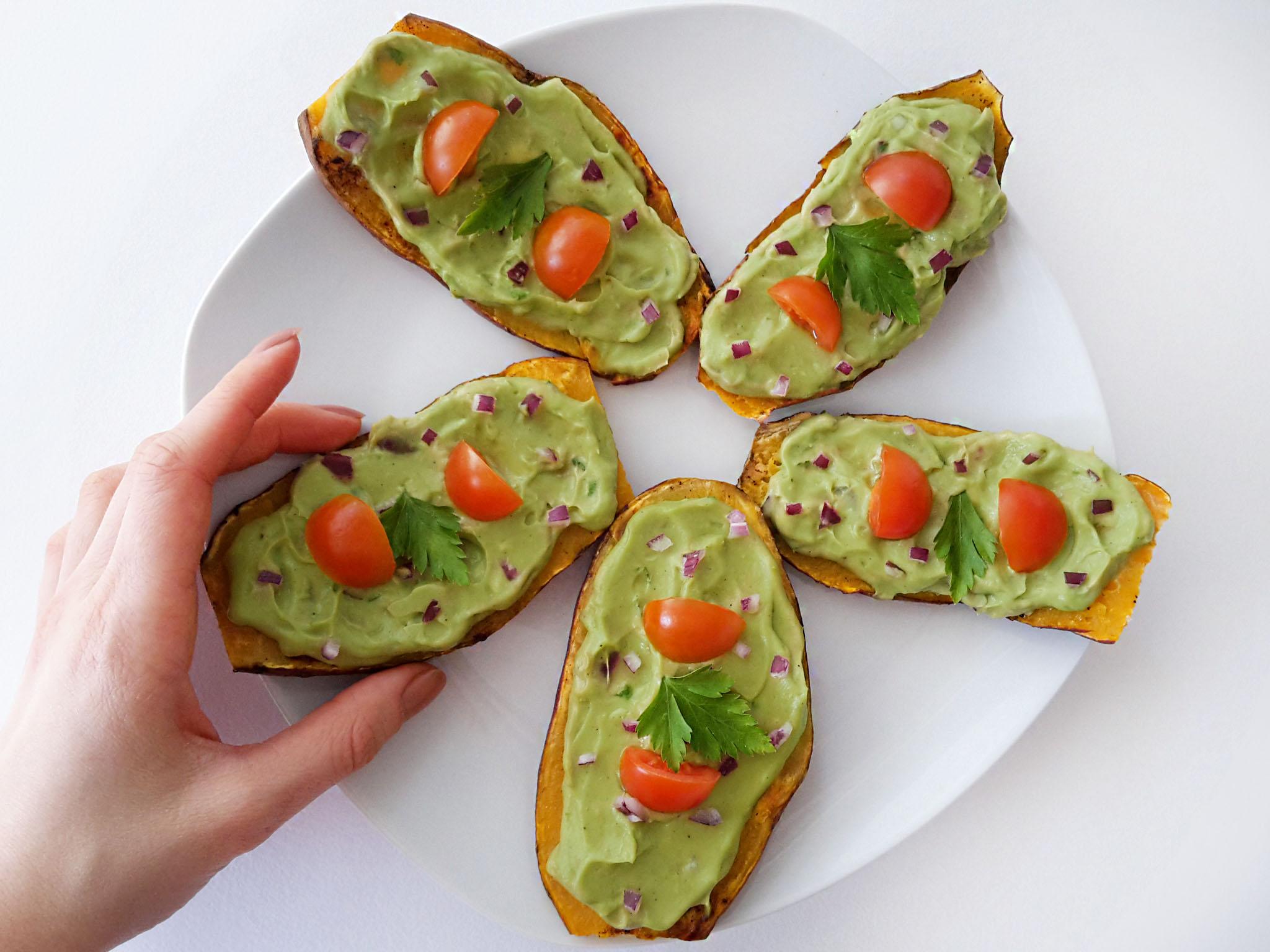 toast din cartof dulce cu guacamole 3