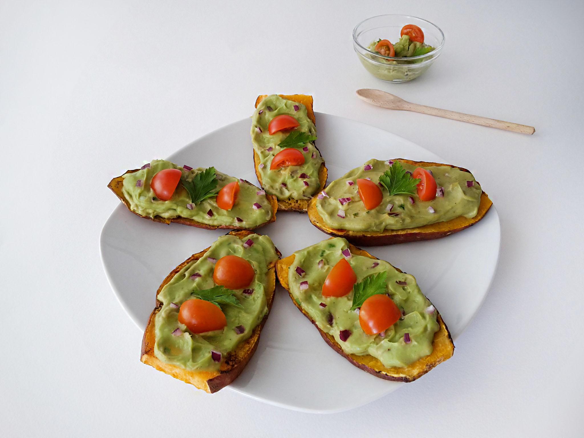 toast din cartof dulce cu guacamole 5
