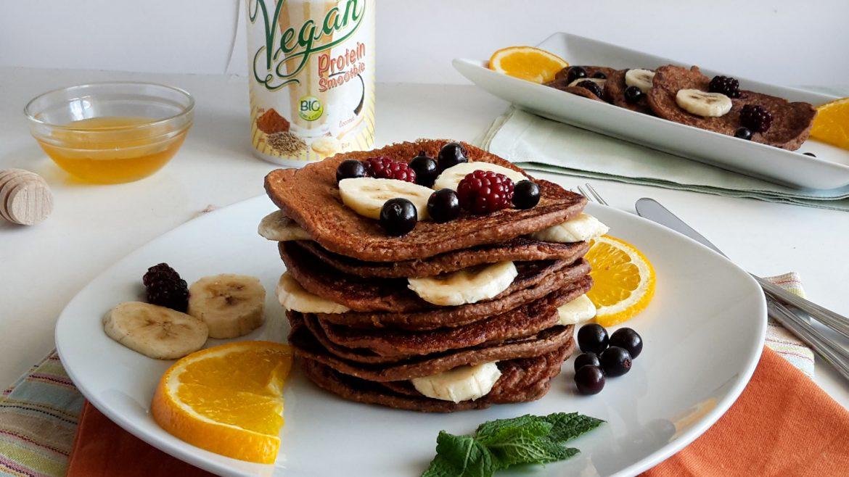 clatite proteice cu fulgi de ovaz protein pancakes 1