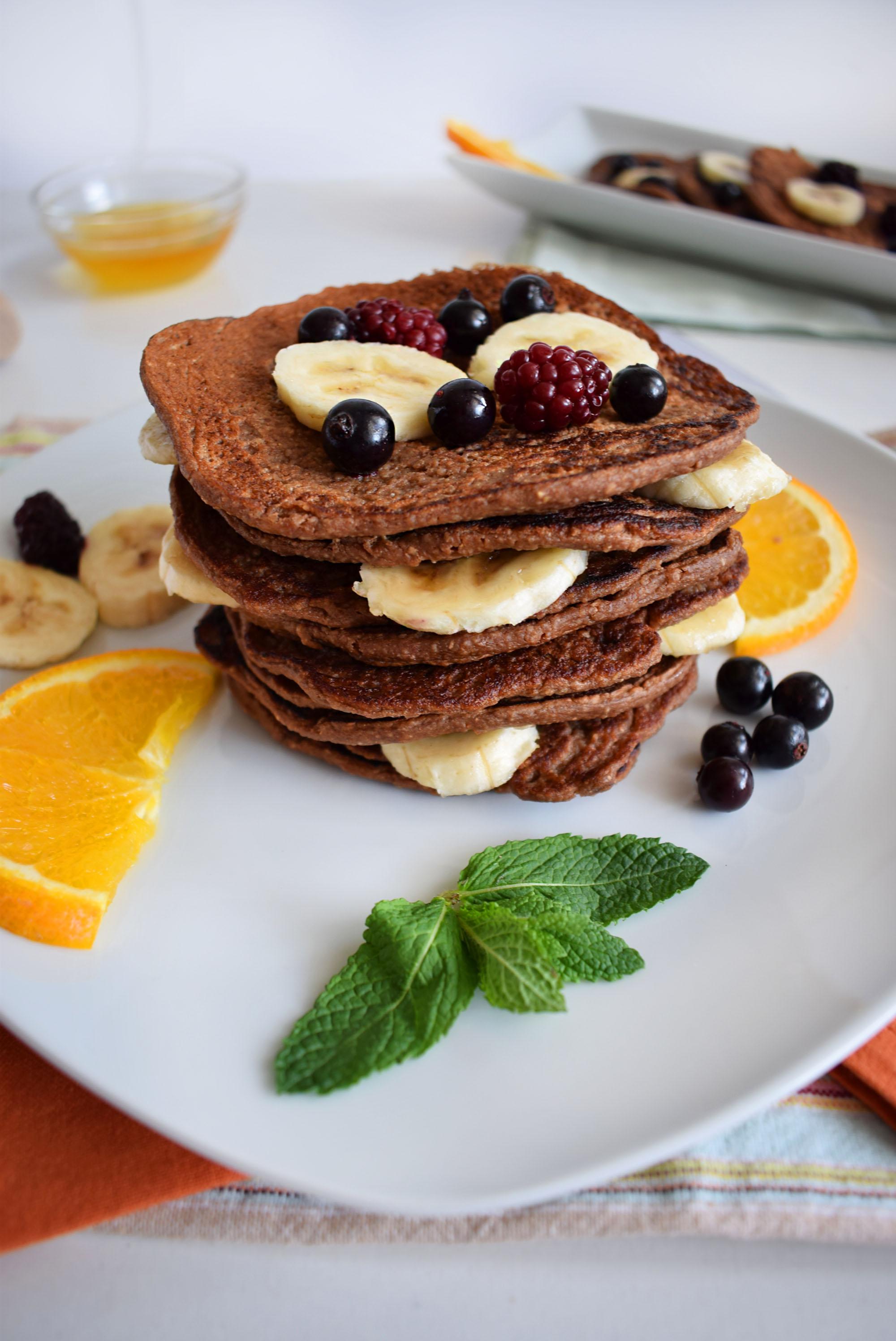 clatite proteice cu fulgi de ovaz protein pancakes 2