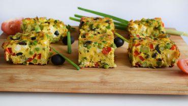 Oven baked omelette