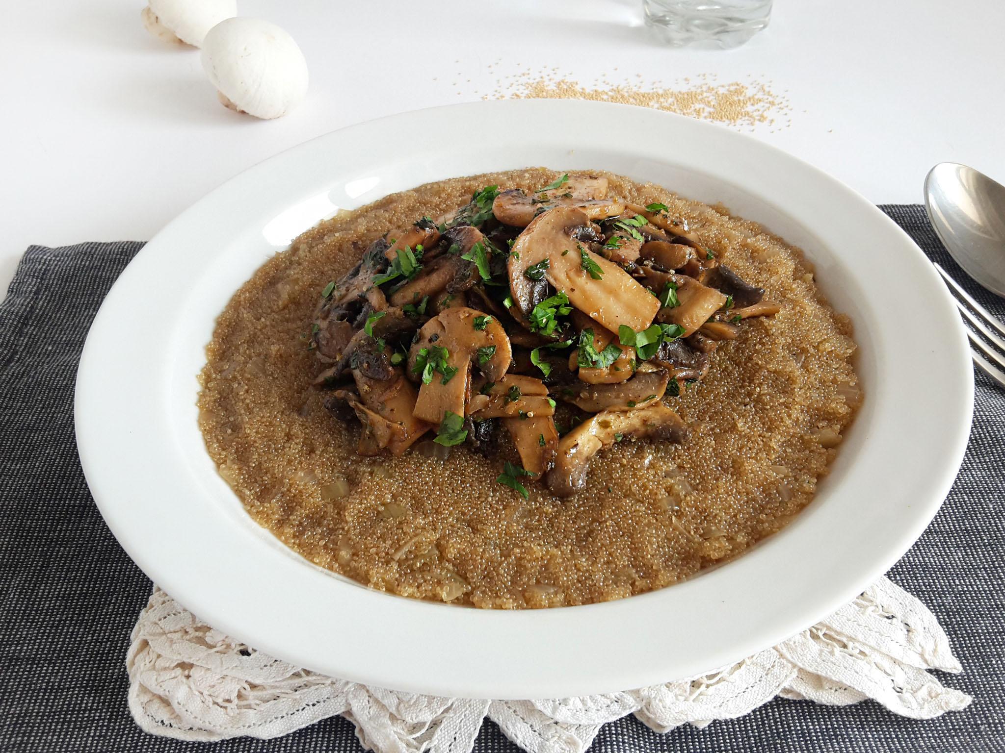 risotto de amarant cu ciuperci