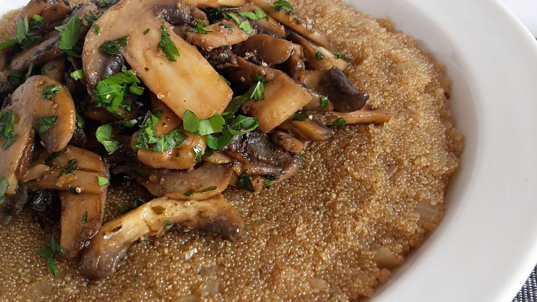 risotto de amarant cu ciuperci1