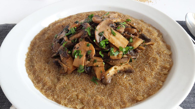 risotto de amarant cu ciuperci2