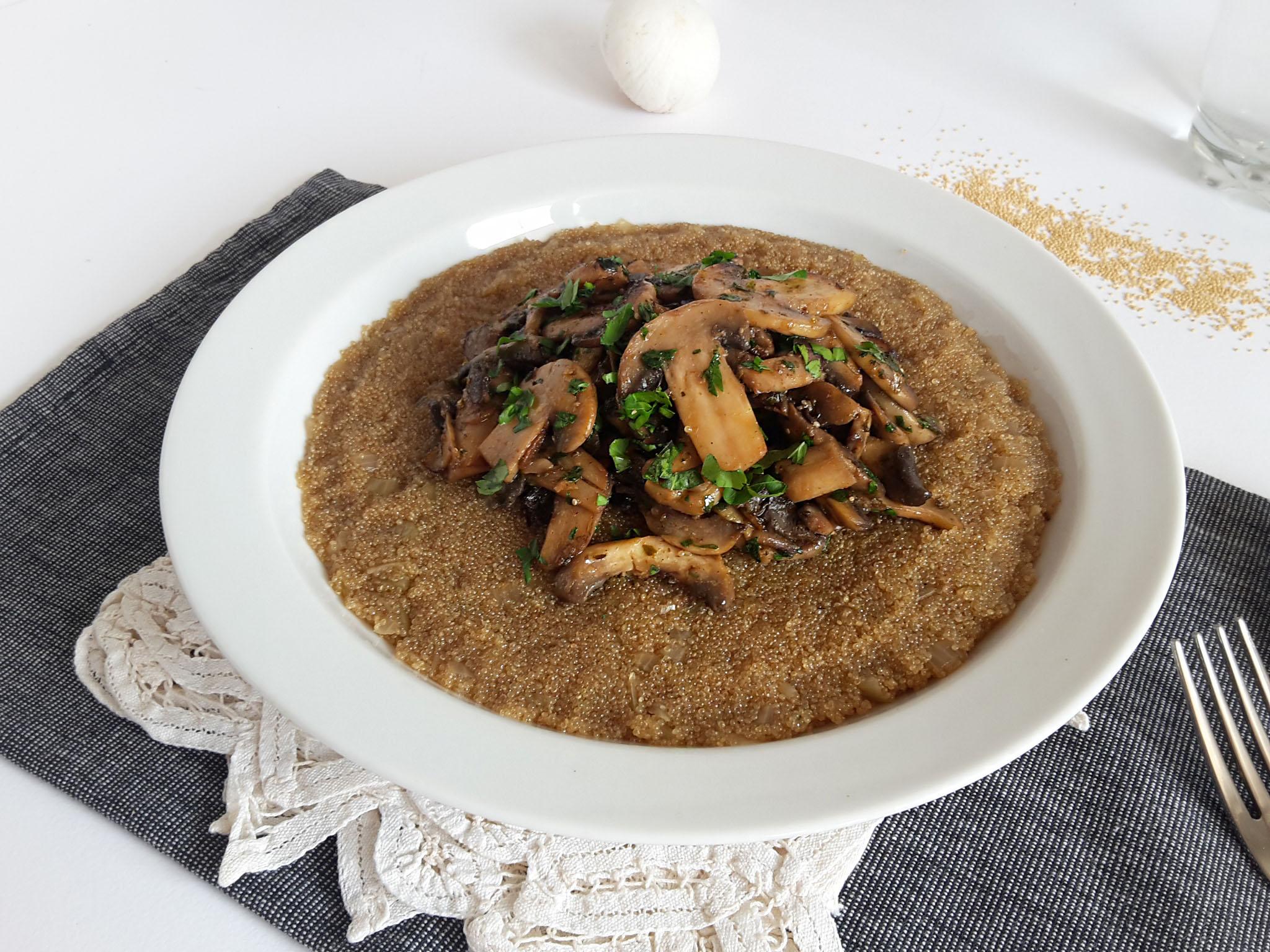 risotto de amarant cu ciuperci3