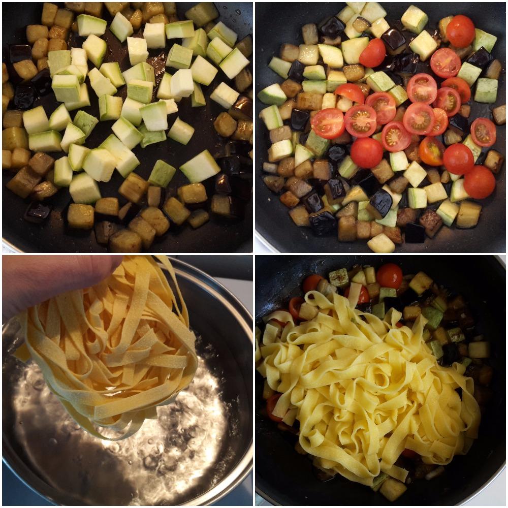 paste fettucine cu legume la tigaie 6