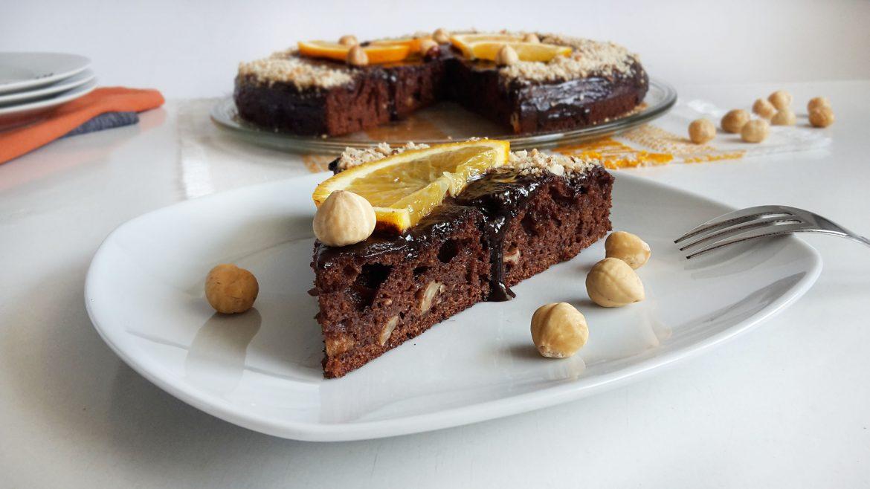 tort cu ciocolata si alune chocolate cake with hazelnuts 1