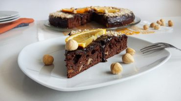 Chocolate cake with hazelnuts