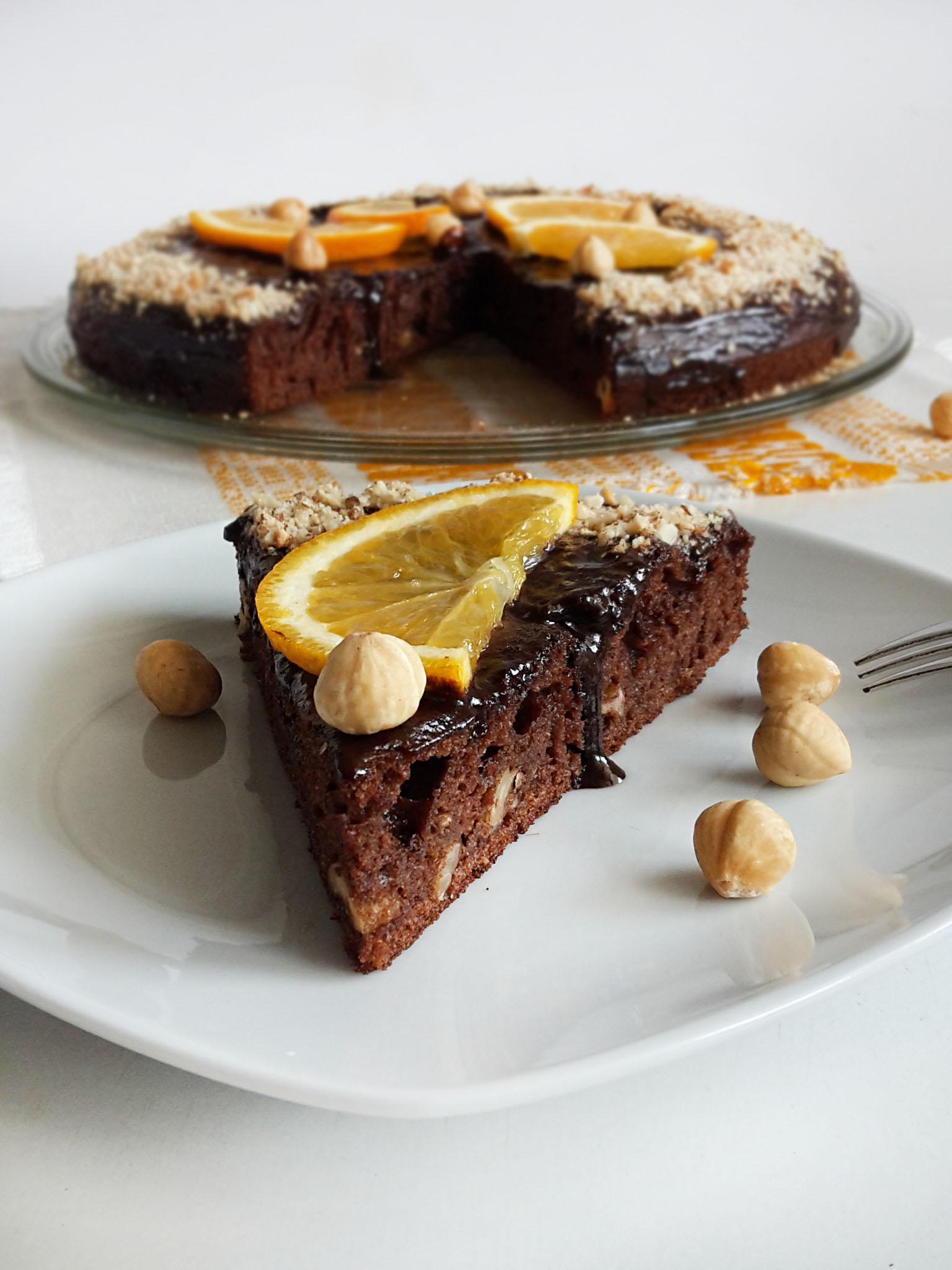 tort cu ciocolata si alune chocolate cake with hazelnuts 3