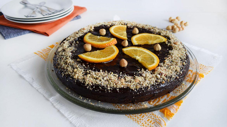 tort cu ciocolata si alune chocolate cake with hazelnuts 6