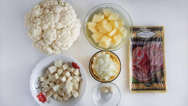 supa crema de conopida cu bacon crocant cauliflower cream soup6