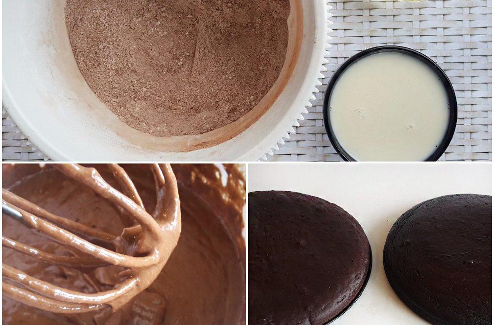 tort vegan cu crema de cocos si unt de arahide2