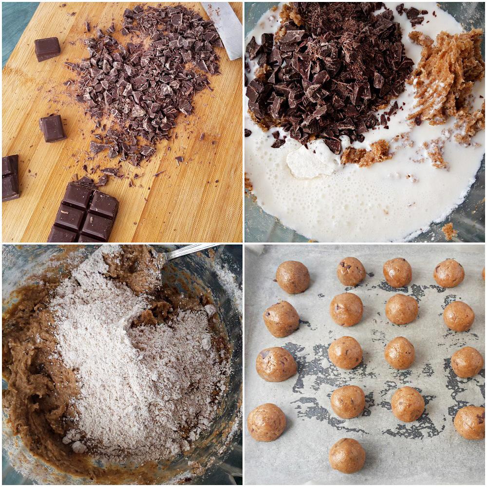 biscuiti cu faina integrala si ciocolata . wholewheat flour cookies with chocolate.7jpg