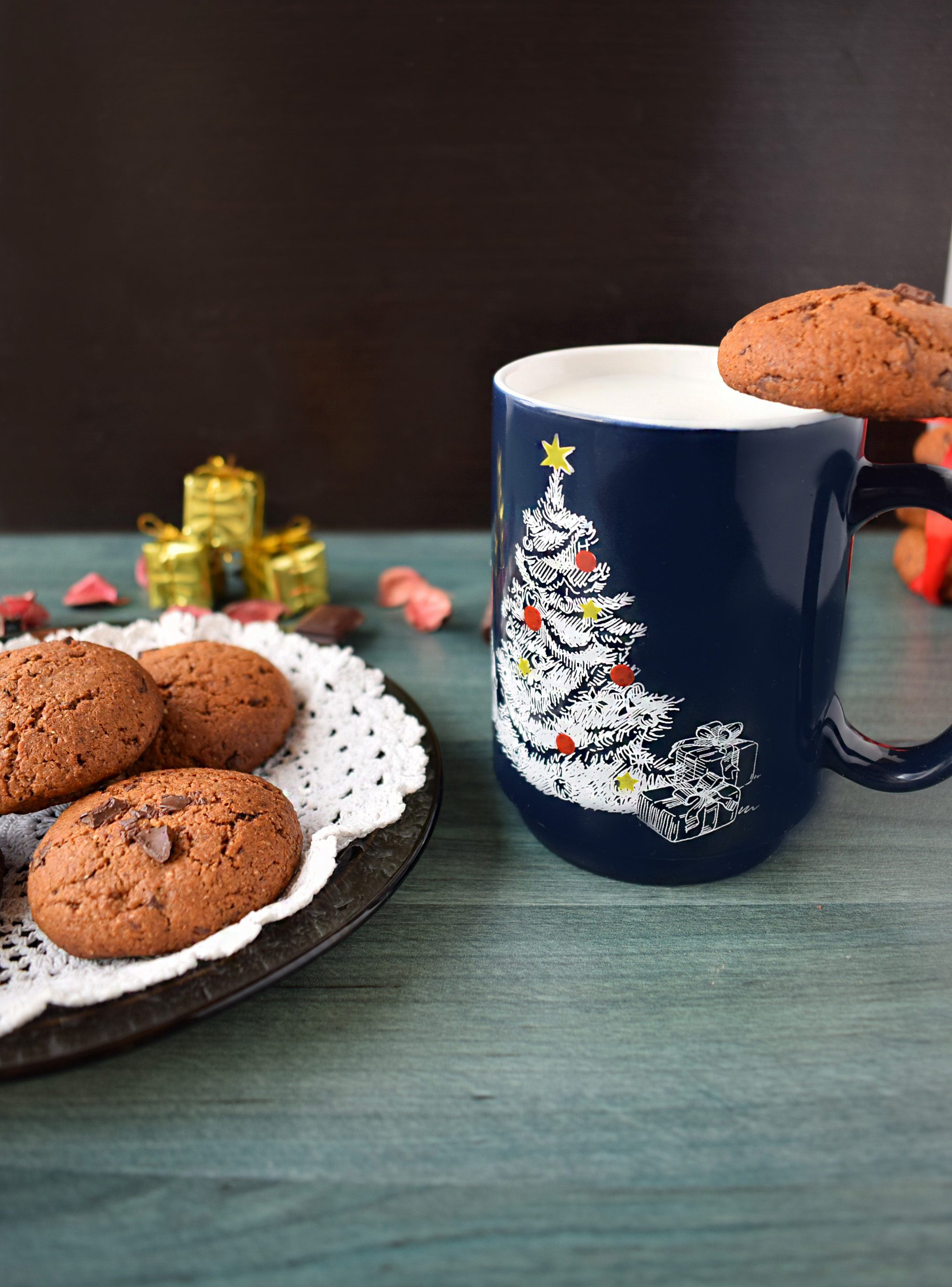 biscuiti cu faina integrala si ciocolata . wholewheat flour cookies with chocolate4