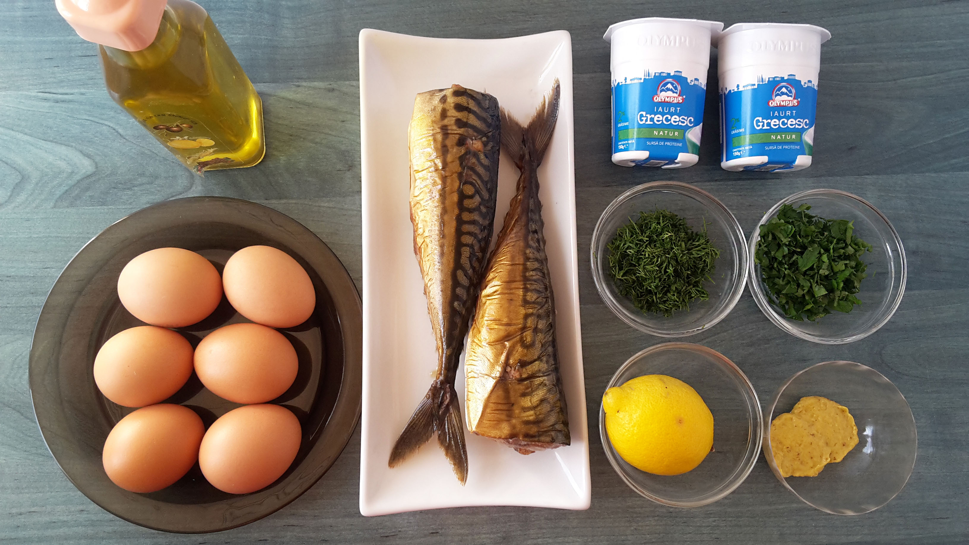 salata cu macrou afumat si iaurt grecesc2 salad with smoked mackerel and greek yogurt
