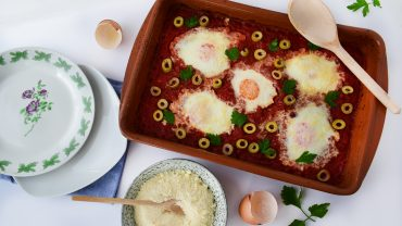 Shakshuka – poached eggs in tomato sauce