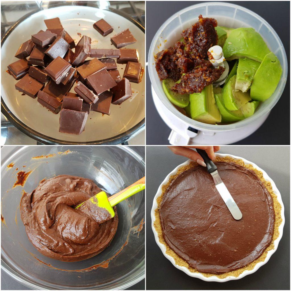 crema din ciocolata neagra si avocado