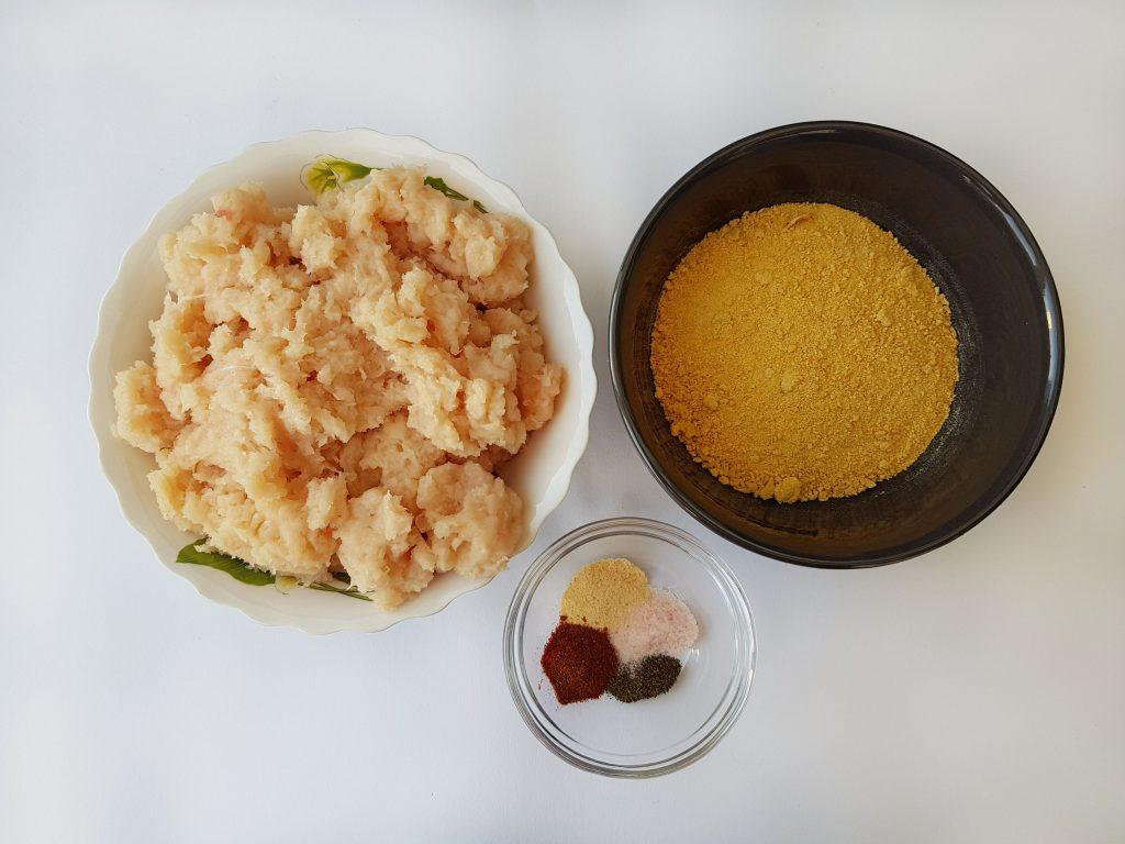 nuggets de pui în crusta de fulgi de porumb