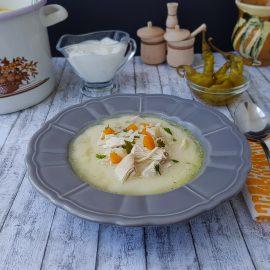 ciorba de pui a la grec - foodieopedia