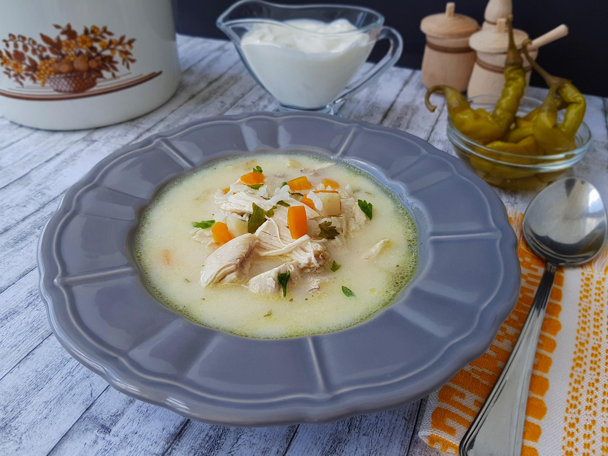 2. ciorba de pui a la grec - foodieopedia