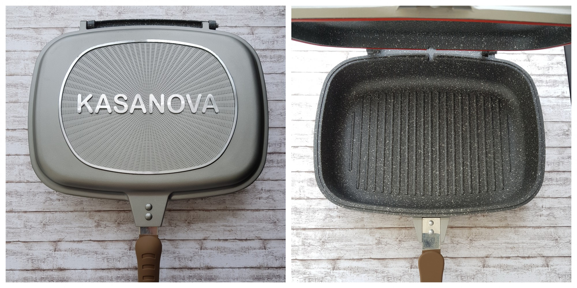 tigaie grill dublă kasanova