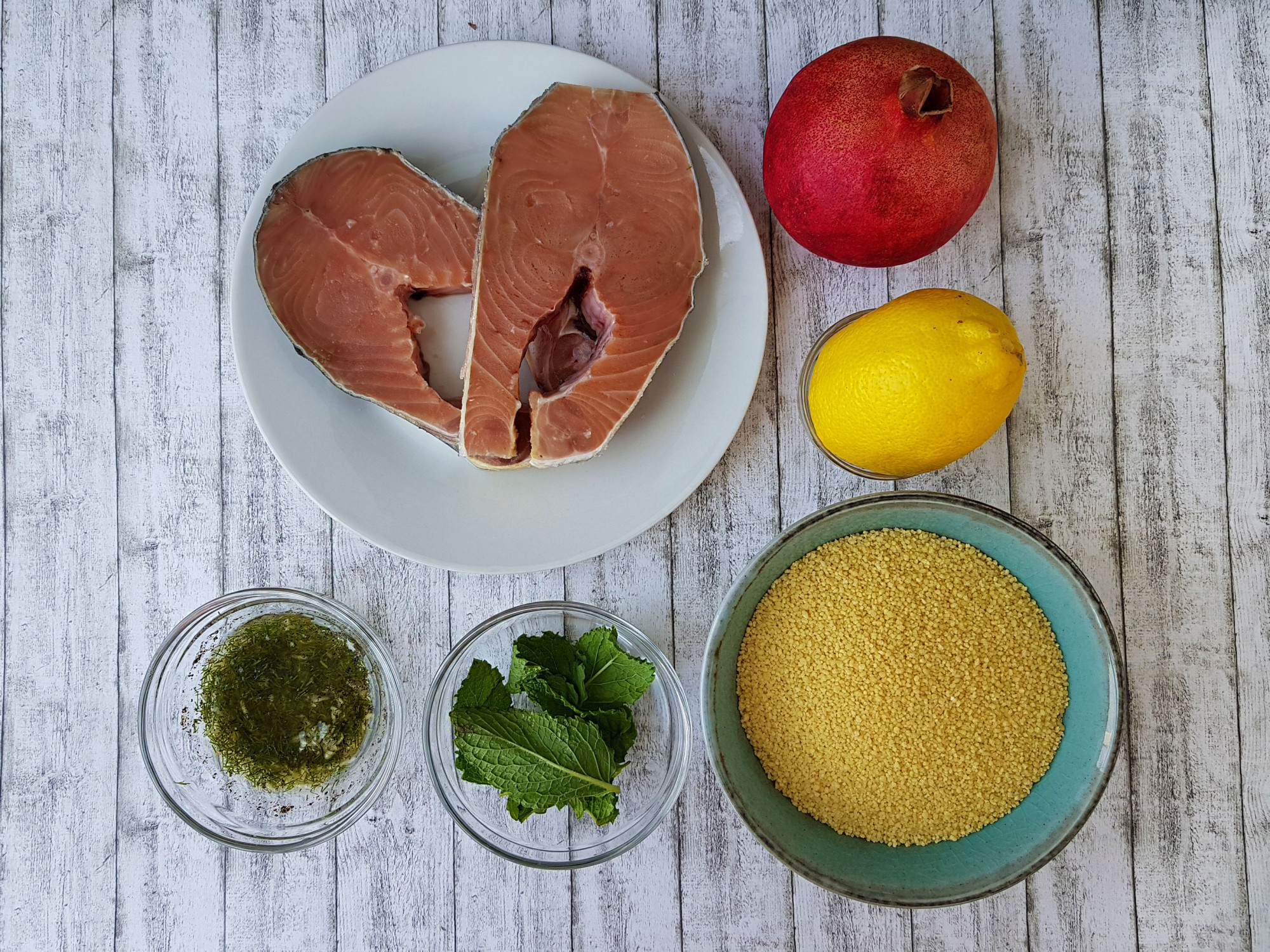 cuscus arabesc cu somon - foodieopedia