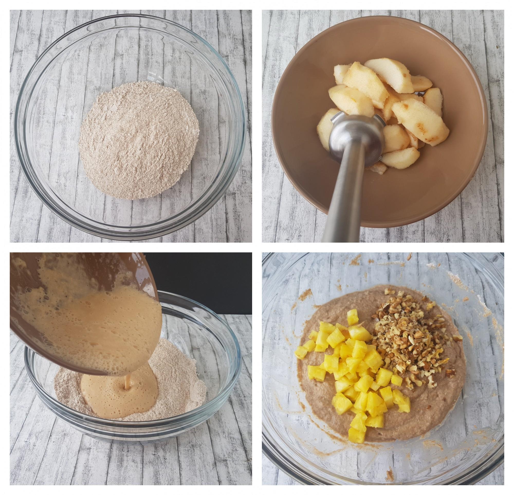 chec cu pere si ananas - foodieopedia