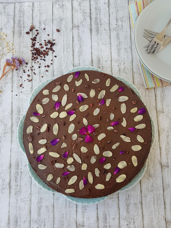 tort cu ciocolata si faina de migdale - foodieopedia