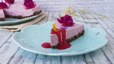 Raw cheesecake cu zmeura