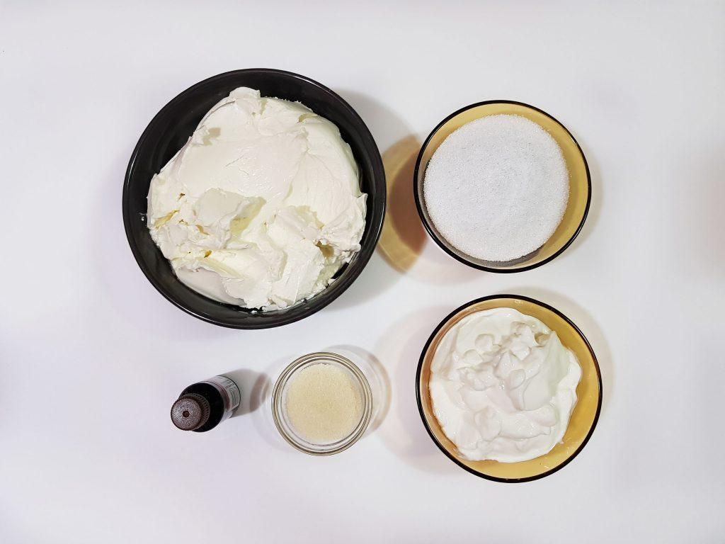 crema de branza pentru tort cu iaurt grecesc