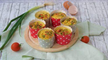 Mini-omlete in forme de briose