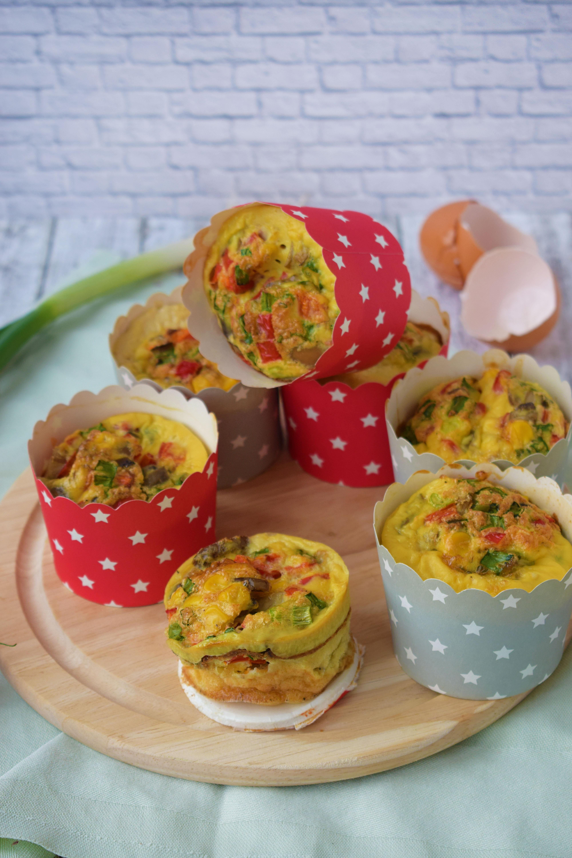 mini omlete in forme de briose