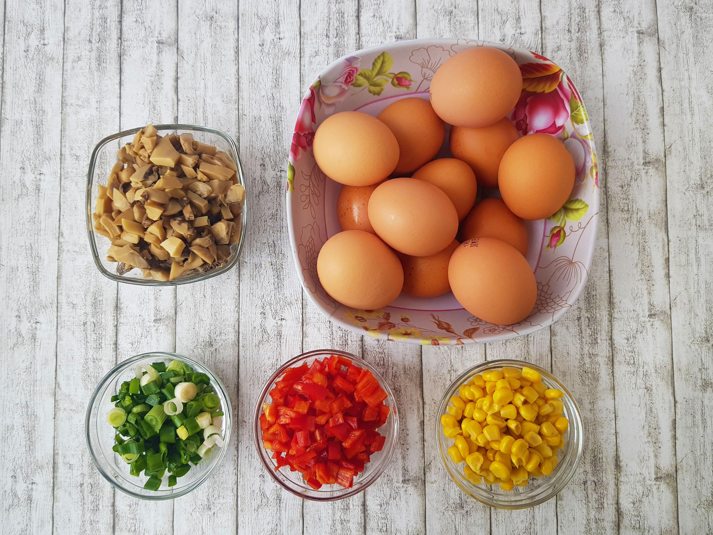 brioșe omleta cu legume la cuptor